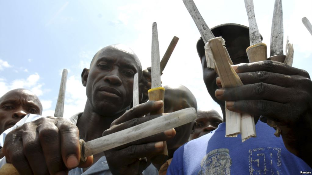 Bashebi-traditional-circumcisors-display-knives-that-they-use-to-circumcise-initiates