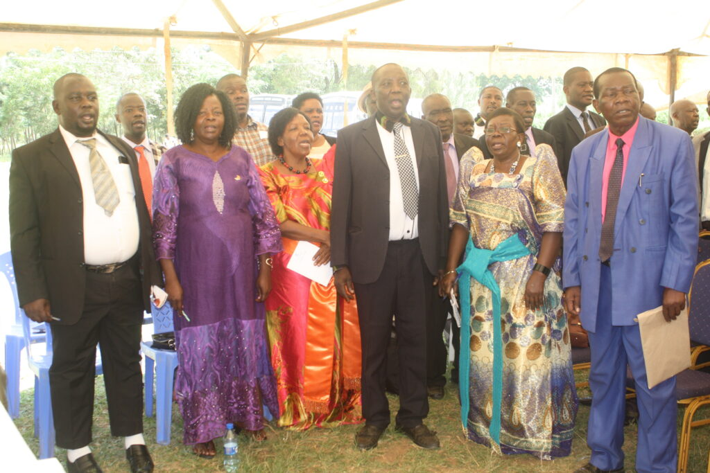 Delegates-and-Cabinet-Ministers-sing-East-Africa-and-Ishioyo-She-BaMasaaba-before-commencement-of-General-Asembly-in-Mabanga-Bungoma
